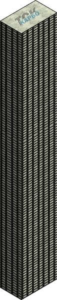Усиление колонн углеродной сеткой