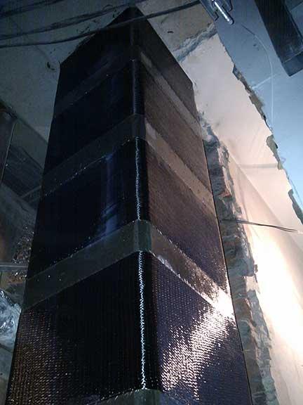 усиление прямоугольных колонн углеволокном